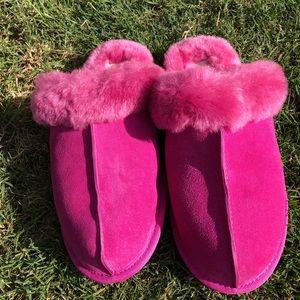 Women Ugg Scuffette II Suede Shearling Slippers 10